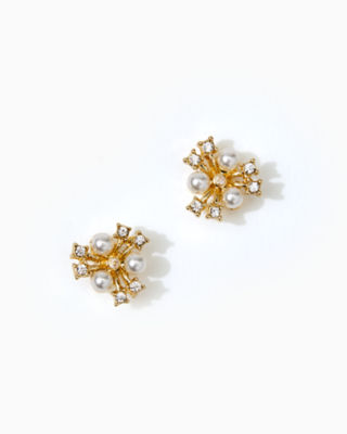 Senorita Stud Earrings, Gold Metallic, large