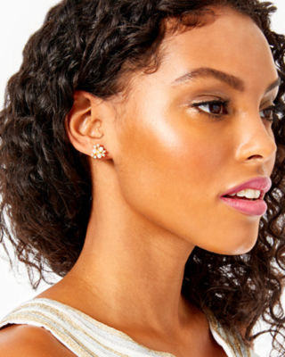Senorita Stud Earrings, Gold Metallic, large