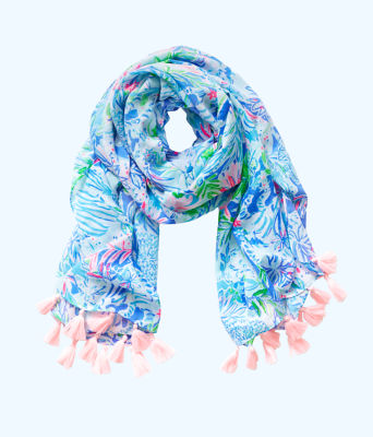 Resort Scarf, Coastal Blue Lion Around, large