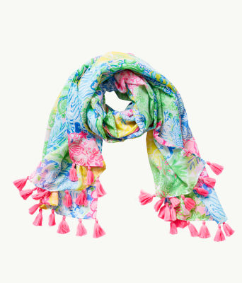 Resort Scarf, Multi Cheek To Cheek, large 0