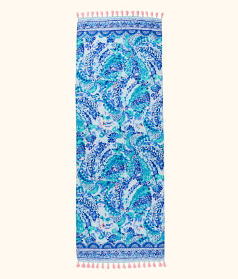 Resort Scarf, Turquoise Oasis Wave After Wave Wrap, large 1