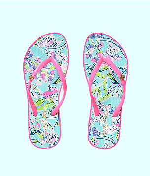Pool Flip Flop, Bali Blue Sway This Way Shoe, large