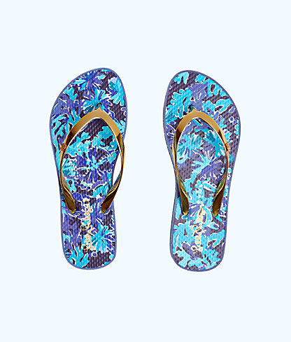 Pool Flip Flop, Bright Navy In Too Deep Shoe, large