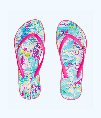Pool Flip Flop, Multi Postcards From Positano Shoe, large