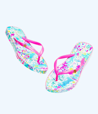 Pool Flip Flop, Multi Postcards From Positano Shoe, large 1