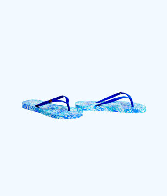 Pool Flip Flop, Turquoise Oasis Half Shell Shoe, large 2
