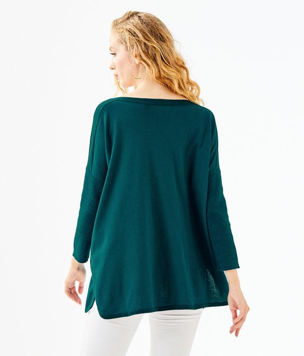 Cobo Boatneck Sweater, Inky Tidal, large