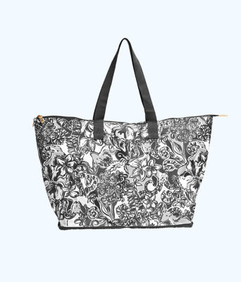 Getaway Packable Tote, Onyx With A Twist, large