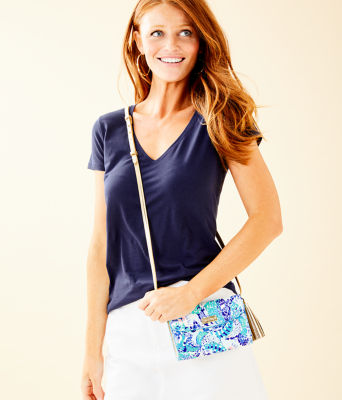 Mallorca Crossbody Bag, Turquoise Oasis Wave After Wave Accessories Small, large