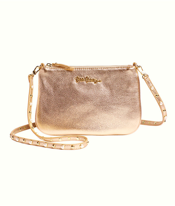 Studded Leather Cruisin Crossbody Bag, Gold Metallic, large