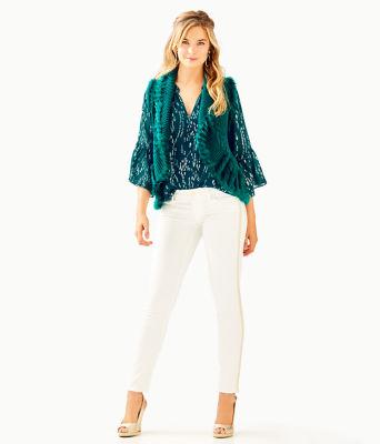 Torini Faux Fur Sweater Vest, Inky Turquoise, large