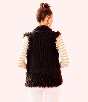Torini Faux Fur Sweater Vest, Onyx, large 1