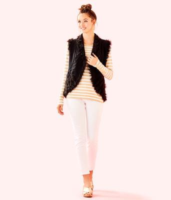 Torini Faux Fur Sweater Vest, Onyx, large 2