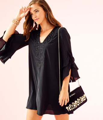 Tatiana Stretch Silk Dress, , large