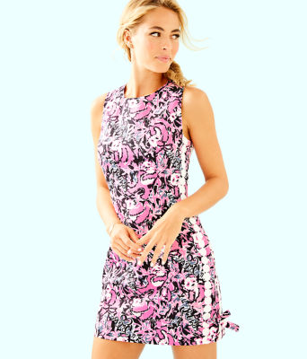 Mila Shift Dress, Hibiscus Pink Hangin With My Boo, large