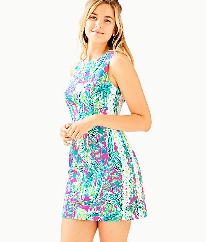 Mila Shift Dress, Multi Snap Back, large