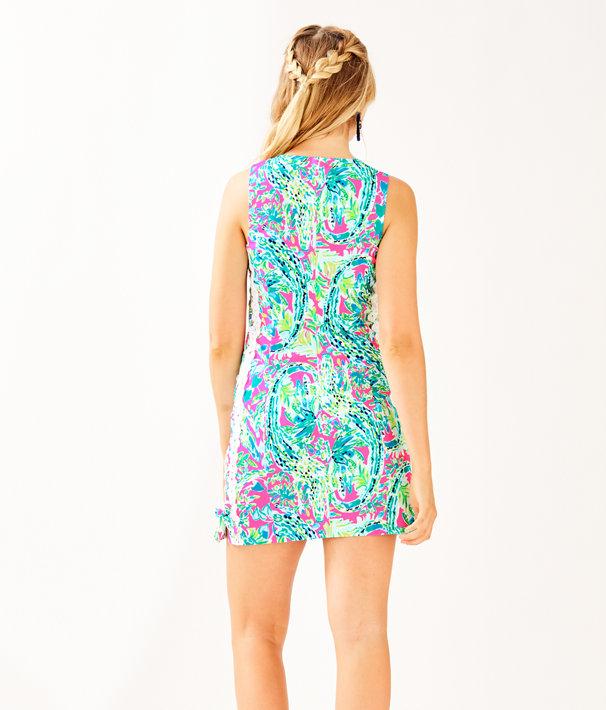 Mila Shift Dress, Multi Snap Back, large