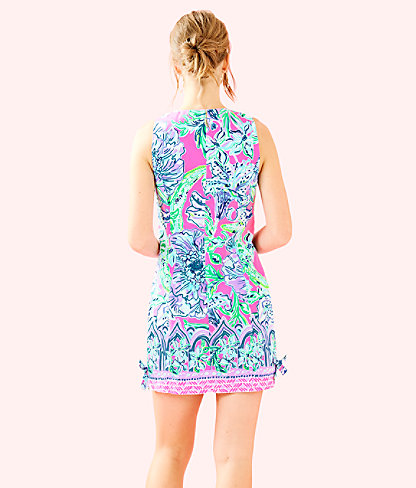 Mila Shift Dress, Pink Tropics In The Groove Engineered Dress, large 1