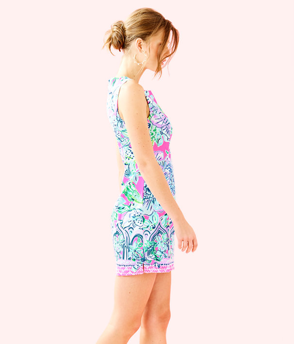 Mila Shift Dress, Pink Tropics In The Groove Engineered Dress, large