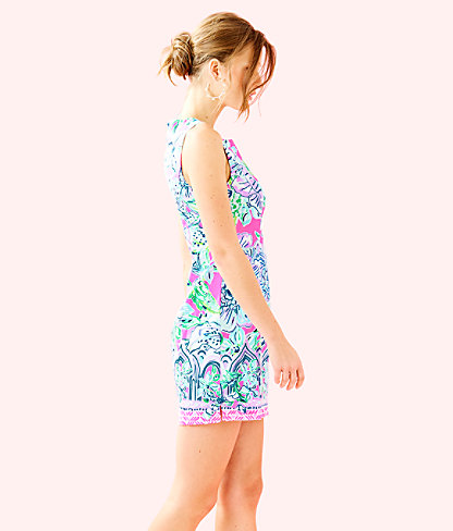 Mila Shift Dress, Pink Tropics In The Groove Engineered Dress, large 2