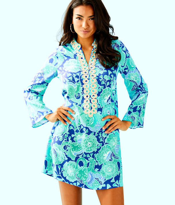 Gracelynn Stretch Tunic Dress, Bright Agate Green Mint To Be, large