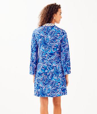 Gracelynn Stretch Tunic Dress, Coastal Blue Whispurr, large 1