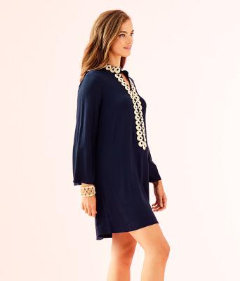 Gracelynn Stretch Tunic Dress, True Navy, large 2