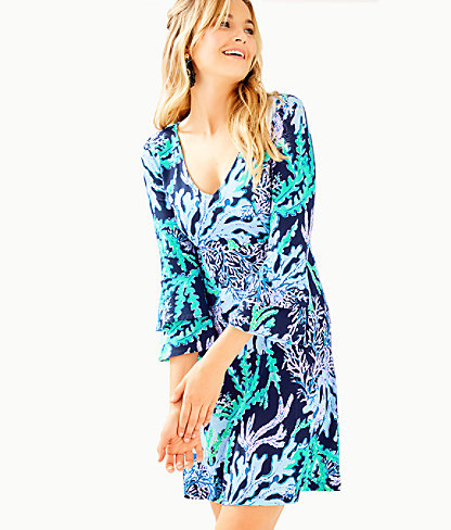 Raina Dress, Deep Indigo Swish and Sway, large