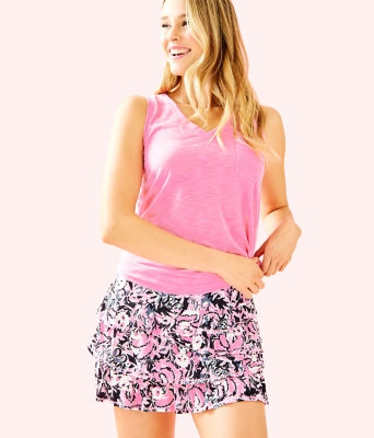 Luxletic Amira Skort, Hibiscus Pink Hangin With My Boo, large 0