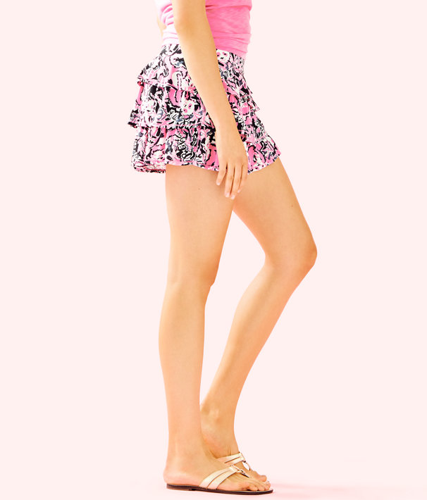Luxletic Amira Skort, Hibiscus Pink Hangin With My Boo, large