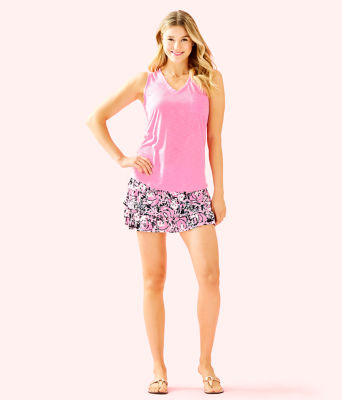 Luxletic Amira Skort, Hibiscus Pink Hangin With My Boo, large 3