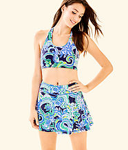 UPF 50+ Luxletic Meryl Nylon Aila Skort, Bright Navy Sirens and Spirits, large