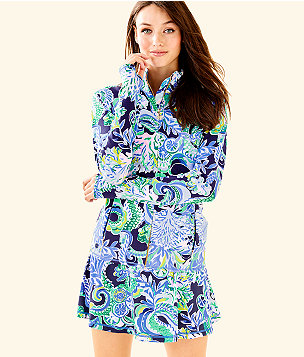 Luxletic Serena Jacket, Bright Navy Sirens and Spirits, large
