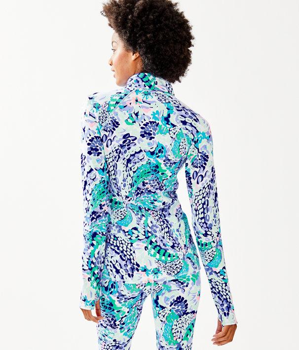 Luxletic Serena Jacket, Turquoise Oasis Wave After Wave, large