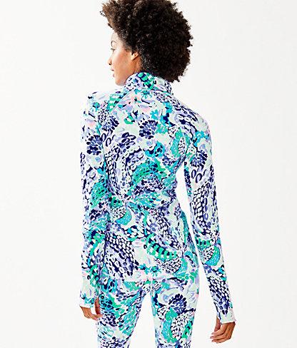 Luxletic Serena Jacket, Turquoise Oasis Wave After Wave, large 1