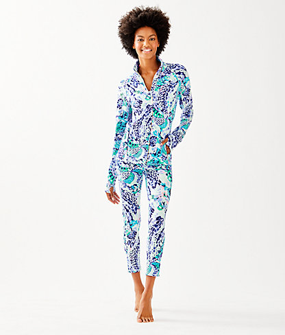 Luxletic Serena Jacket, Turquoise Oasis Wave After Wave, large 2