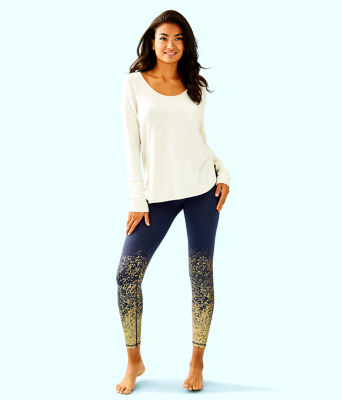 "UPF 50+ Luxletic 26"" Weekender Midi Legging, True Navy Anything Is Possible Engineered Luxletic, large 3"