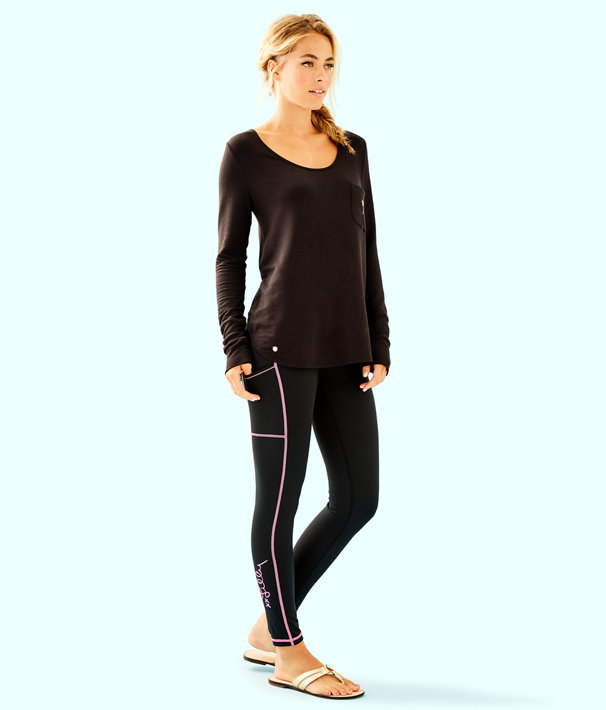 "UPF 50+ Luxletic 26"" Weekender Legging, Onyx, large"