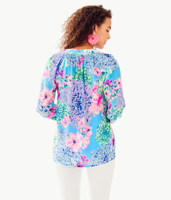 Elsa Silk Top, Multi Special Delivery, large 1