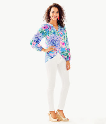 Elsa Silk Top, Multi Special Delivery, large 2
