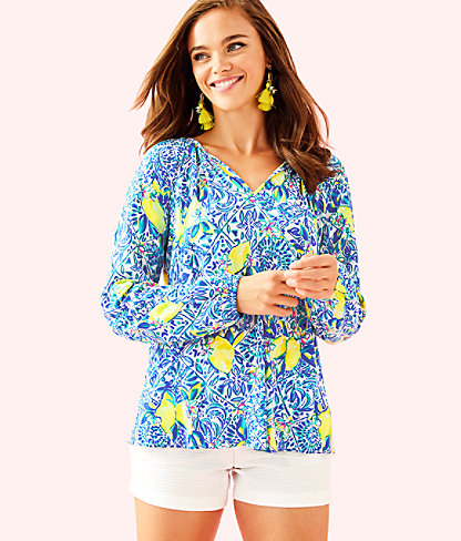 Willa Tunic, Resort White Zest For Life, large