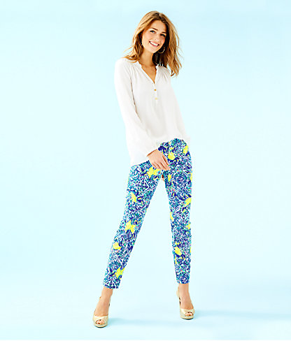 """29"""" Kelly Skinny Ankle Pant, Resort White Zest For Life, large 3"""