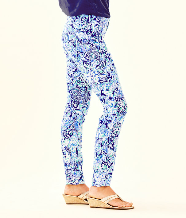 "29"" Kelly Skinny Ankle Pant, Royal Purple 60 Animals, large"