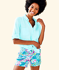 Sea View Button Down Top, Whisper Blue, large
