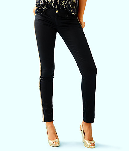 "31"" Worth Skinny Jean - Sateen With Side Seam Trim, Onyx, large"