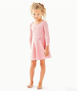 Girls Carynn Sweater Dress, Paradise Pink, large