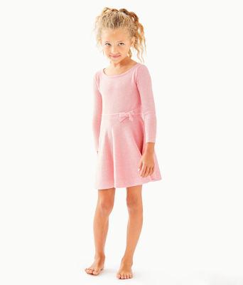 Girls Carynn Sweater Dress, Paradise Pink, large