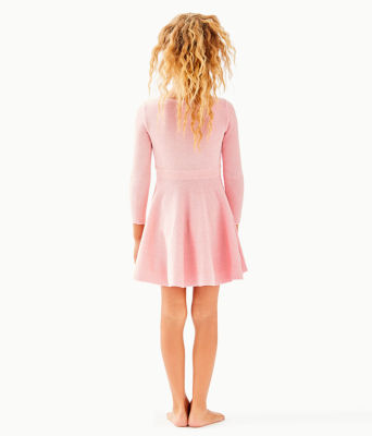 Girls Carynn Sweater Dress, Paradise Pink, large 1