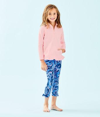 Girls Maia Legging, Coastal Blue Whispurr, large 2