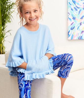 Girls Maia Legging, Coastal Blue Whispurr, large 3
